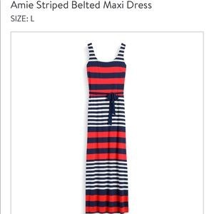 NWT Gilli Striped Belted Maxi Dress